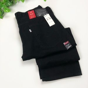 NWT Levi's 514 Straight Black Jeans Men's 36W 29L